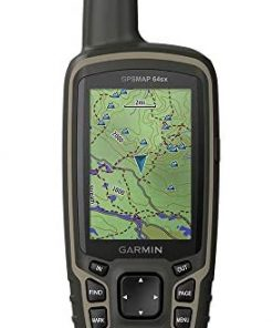 Garmin GPSMAP 64sx, Handheld GPS with Altimeter and Compass, Preloaded With TopoActive Maps, Black/Tan