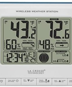 La Crosse Technology 308-1711BL Wireless Weather Station with Heat Index and Dew Point,Teal Blue/White