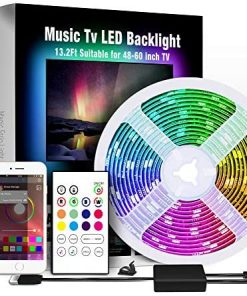 Miume 13.2Ft Music LED Strip Lights for 48-60 inch TV, RGB USB Powered TV Led Backlight with APP Control,TV Led Back Light Kit for Flat Screen TV,PC…