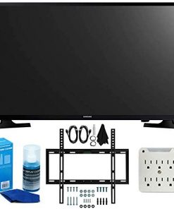 SAMSUNG UN32M4500 32-Inch 720p Smart LED TV (2017 Model) + Slim Flat Wall Mount Kit Ultimate Bundle for 19-45 Inch TVs + SurgePro 6-Outlet Surge Adapter w/Night Light + LED TV Screen Cleaner