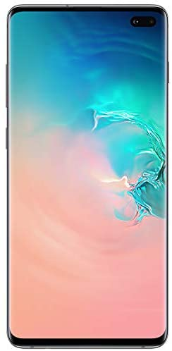 Samsung Galaxy S10+Factory Unlocked Android Cell Phone | US Version | 128GB of Storage | Fingerprint ID and Facial Recognition | Long-Lasting Battery | Prism White