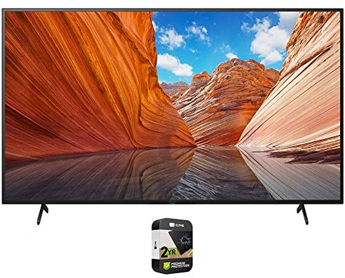 Sony KD50X80J 50 inch X80J 4K Ultra HD LED Smart TV 2021 Model Bundle with Premium 2 Year Extended Protection Plan