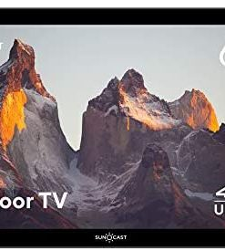 """Suncast 65"""" Outdoor Partial Shade 4K UHD LED TV with Waterproof Remote and Compatible Wall Mount (SNCT6500)"""