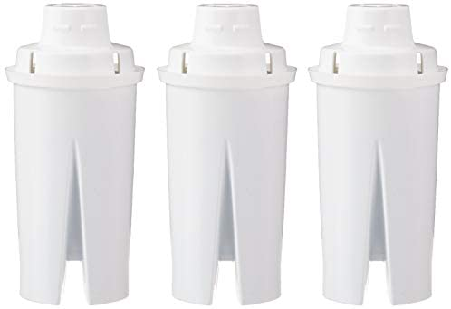 Amazon Basics Replacement Water Filters for Water Pitchers, Compatible with Brita - 3-Pack