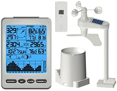 Ambient Weather WS-12 Wireless Weather Station w/Ambient Color Changing Display
