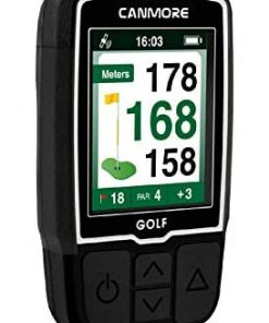 CANMORE Handheld Golf GPS HG200 - Water Resistant Full-Color 2-Inch Display with 38,000+ Essential Golf Course Data and Score Sheet - Free Courses Worldwide and Growing - 1-Year Warranty (Black)