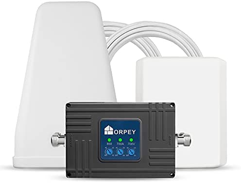 Cell Phone Signal Booster Repeater for Home and Office - Supports GSM 3G and 4G LTE Voice and Data Signal for Verizon, AT&T, T-Mobile, Sprint Band 5/12/13/17 - Cover Up to 5,500 Square Foot Area