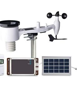 ECOWITT WH6006E Weather Station 7-in-1 Solar Powered Wireless 4G Cellular Weather Station with Remote Monitoring and SMS Alerts