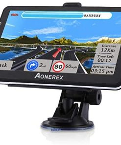 GPS Navigation for Car Truck 7 Inch Touch Screen Voice Navigation Vehicle GPS for Car HGV, Speeding Warning, 2021 Maps, Free Lifetime Maps Update of USA Canada Mexico