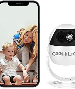 [New 2021] FHD 1080P WiFi Indoor Mini Surveillance Camera - Two-Way Audio Pet Detection, Motion-Tracking.IR Night Vision.Dog Cat and Baby Camera. Works with Alexa and Google Home