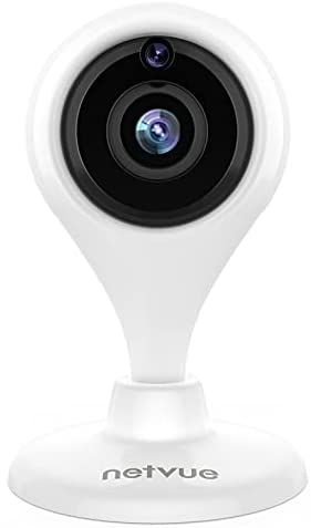 Security Camera Indoor, NETVUE 1080P Home Security Camera with Phone APP, Baby Monitor and Pet Camera with 2-Way Audio, 2.4GHz WiFi Camera with Night Vision, AI Motion Detection, Work with Alexa