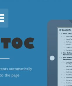 Fixed TOC - table of contents for WordPress(wp) plugin
