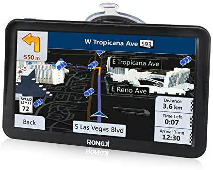 9 inches GPS Navigation for Car Truck 2021 Free Maps Contains USA Canada Mexico Map Car Navigator Voice Broadcast Function and Speed Camera Warning Driving Alert