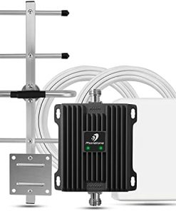 Cell Phone Signal Booster for Home and Office - Boost Verizon and AT&T LTE Signal   Up to 5,000 Sq Ft Area   Dual Band 12/17/13 Cellular Repeater with High Gain Antennas