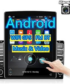 Double Din Car Radio with Bluetooth - Rimoody 9.7'' Vertical Touchscreen Android Radio Car GPS WiFi FM Radio DVR iOS/Android Mirror Link USB car Stereo + Backup Camera