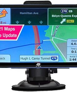 """E-ACE GPS Navigation for Car 7"""" Touchscreen 8GB+128M Vehicle GPS Navigator System Real Voice Spoken Turn Direction Reminding GPS for Car with Lifetime Free Maps Update (G715, 7 inch)"""