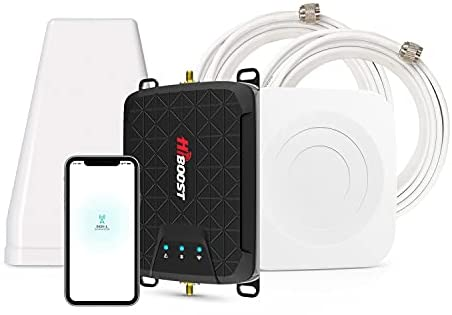 HiBoost Cell Phone Signal Booster for Room or Apartment, Band 12/17/13/5, 5G 4G LTE for Verizon, T-Mobile, AT&T, FCC Approved
