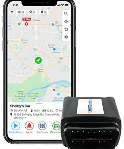 MOTOsafety OBD GPS Car Tracker, Hidden Vehicle Tracker and Monitoring System with Real Time Location GPS Reports, For Auto, Adults, Fleet, Parents, Teen, Elderly, 4G with Phone App