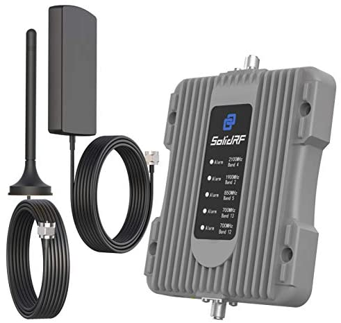 SolidRF Cell Phone Signal Booster for Car, Truck, SUV - Portable Mobile Cell Signal Booster for Vehicle - Verizon, AT&T, T-Mobile, Sprint & More - Enhance Your Cell Phone Signal Up to 3~5 Miles