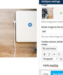 WPBakery Page Builder Add-on Image Hotspot with Tooltip and Lightbox