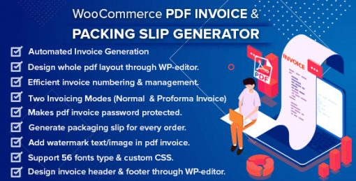 WooCommerce PDF Invoice & Packing Slip with Credit Note