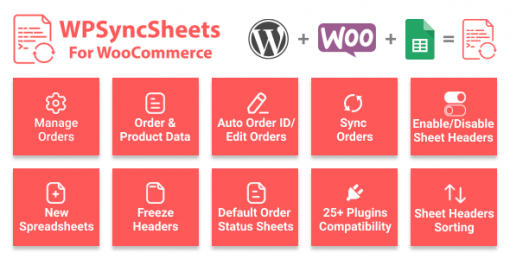 WPSyncSheets For WooCommerce - Manage WooCommerce Orders with Google Spreadsheet