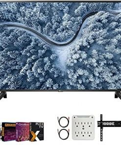 LG 55UP7000PUA 55 inch UP7000 Series 4K LED UHD Smart webOS TV 2021 Model Bundle with Premiere Movies Streaming 2020 + 37-70 Inch TV Wall Mount + 6-Outlet Surge Adapter + 2X 6FT 4K HDMI 2.0 Cable