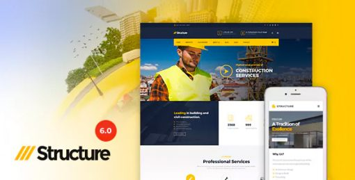 Structure - Construction Industrial Factory WordPress Theme
