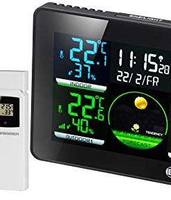 BRESSER Quadro NLX Wireless Weather Station w/ Thermo-Hygro Sensors - 4 Different Measuring Points (7000023)