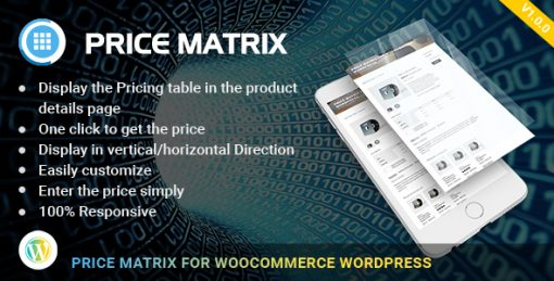 Flexible Table Pricing Matrix for WooCommerce