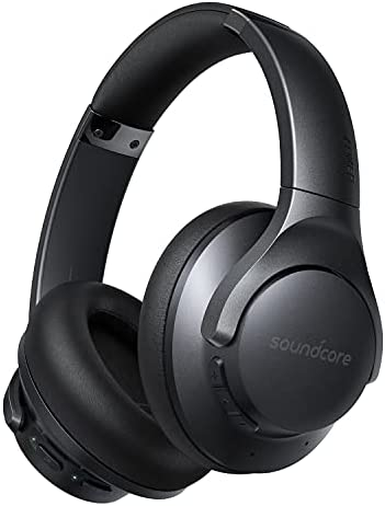 Soundcore by Anker Life Q20+ Active Noise Cancelling Headphones, 40H Playtime, Hi-Res Audio, Soundcore App, Connect to 2 Devices, Memory Foam Earcups, Bluetooth Headphones for Travel, Home Office