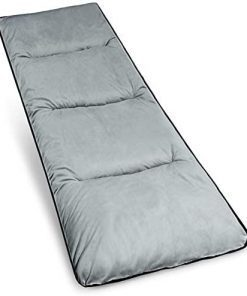 Varbucamp Cot Pads Mattress for Adults, Lightweight Comfortable Thick Cotton Sleeping Cot Mattress for Camping, 75''x 29'', Grey/Navy Blue