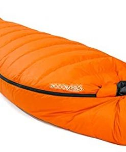 ZOOOBELIVES 10 Degree F Hydrophobic Down Sleeping Bag for Adults - Lightweight and Compact 4-Season Mummy Bag for Backpacking, Camping, Mountaineering and Other Outdoor Activities – Alplive D1500
